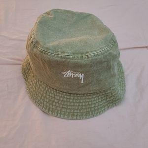 Stussy Stock Washed Bucket Hat (Khaki)
